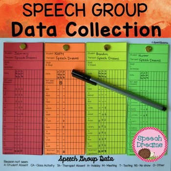 Speech Therapy Group Data Collection {articulation progress monitoring}