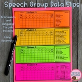 Speech Group Data Slips {articulation progress monitoring}