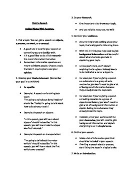 Speech Guided Notes