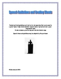 Speech Guidelines and Rubrics for a Junior High or High School Speech Class