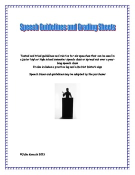 Speech Guidelines and Rubrics for a Junior High or High Sc