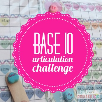 Speech Hearts Base Ten: Articulation Challenge