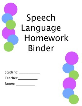 Speech Homework Binder