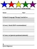 Speech Homework Stars (form)