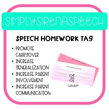 Speech Homework and Tag