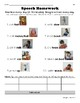 Differentiated Speech Homework for Verbs - Level AA