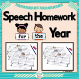 Speech and Language Homework for the Year {NO PREP}