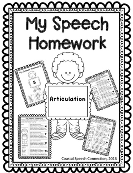 Speech Homework for the Year: Articulation