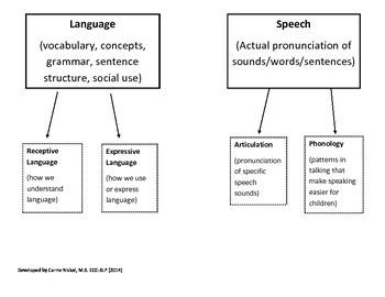 Speech IEP Visual for Parents