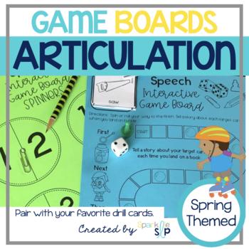Articulation Game Boards SPRING