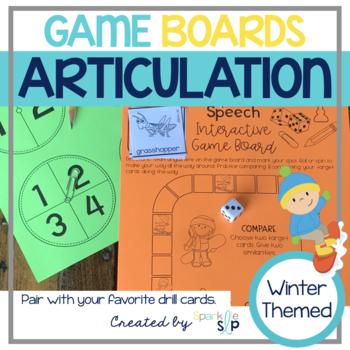 Speech Sound Game Boards WINTER