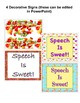 Speech Is Sweet Bulletin Board / Goal Tracking / Reinforcement Kit