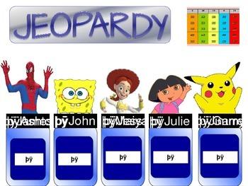 Speech Jeopardy PowerPoint (s, sh, ch, r, th sounds)