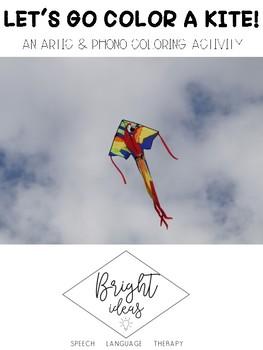 Speech Kite Coloring Activity