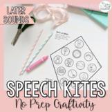 Speech Kites- Later Sounds- No Prep Speech Therapy Craft