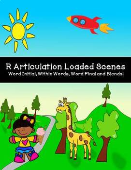 Speech: R Articulation Loaded Scenes/Pictures Initial Medial Final Blends