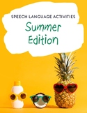 Speech Language Activities: Summer Edition