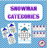 Winter Snowman Categories for Speech Therapy