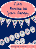 Floral Speech & Language Banners