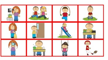 Speech-Language Bingo: Action Verbs, Subjective Pronouns, Present Progressives