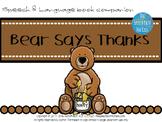 Speech & Language Book Companion: Bear Says Thanks