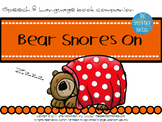 Speech & Language Book Companion: Bear Snores On