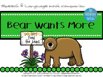 Speech & Language Book Companion: Bear Wants More