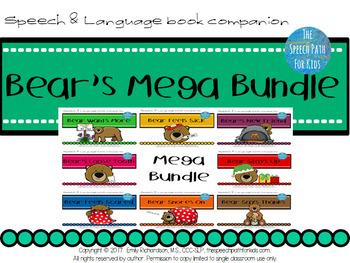 Speech & Language Book Companion: Bear's Mega Bundle
