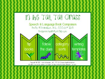 Speech & Language Book Companion: In the Tall, Tall Grass