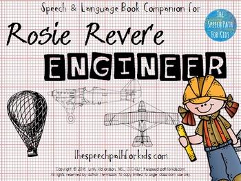 Speech & Language Book Companion: Rosie Revere, Engineer