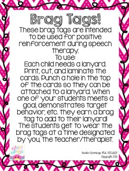 Speech & Language Brag Tags!