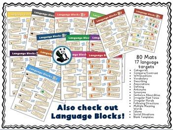 Speech & Language Builders FREEBIE: An Open Ended Activity