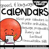 Speech & Language Calendars