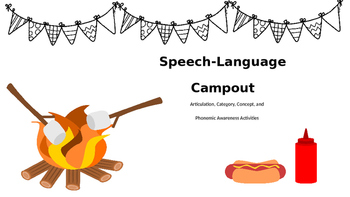Speech-Language Camp Out: No Prep Artic, Language, & Phono