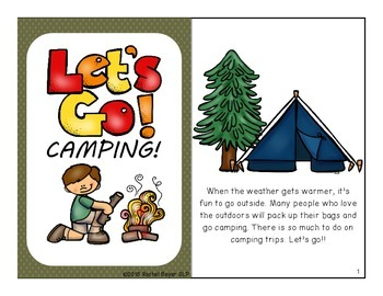 Speech & Language Campout: Interactive Vocabulary & Language Books