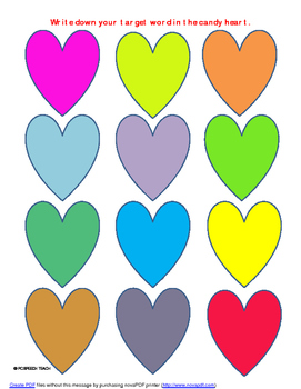 Speech/Language Candy Hearts
