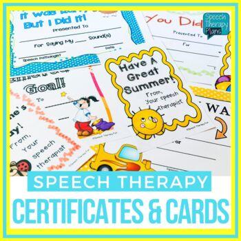 Speech & Language Certificates & Awards