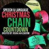 Speech & Language Christmas Chain Countdown {Craftivity}