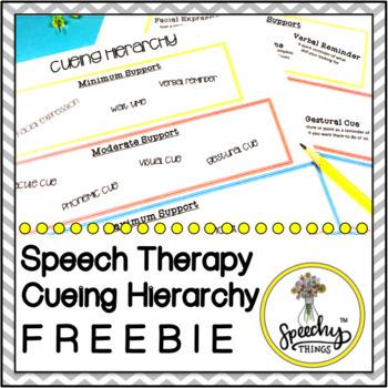 Speech Language Cueing Hierarchy