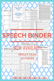 Speech & Language Data Sheet Binder - 23 pages! Articulation to IEP to Progress!