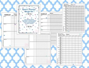 Speech & Language Data Sheet Binder - 23 pages! Articulation to IEP to Progress!