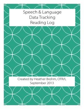 Speech & Language - Data Tracking - Reading Log