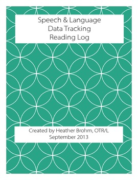 Speech & Language - Data Tracking - Reading Log