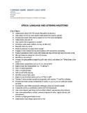 Speech & Language Developmental Milestones