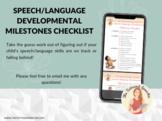 Speech/Language Developmental Milestones Checklist - The Tattooed Speechie