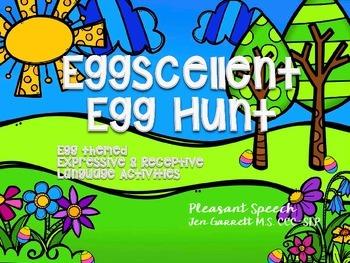 #Apr17slpmusthave Speech Language Eggcellent Egg Hunt