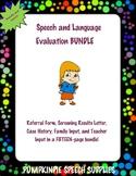 Speech & Language Evaluation BUNDLE (K-6)