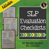 Speech & Language Evaluation Checklists - Editable