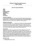 Speech Therapy-Speech & Language Evaluation Report for Non-Verbal Student