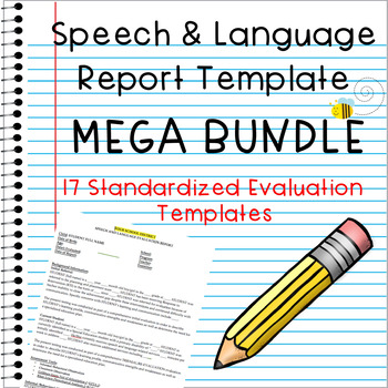 Speech & Language Evaluation Report Templates MEGA Bundle